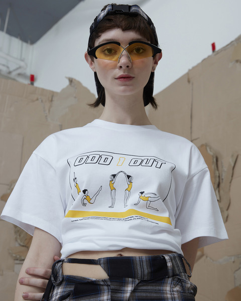 ODD ONE OUT TEE_WHITE