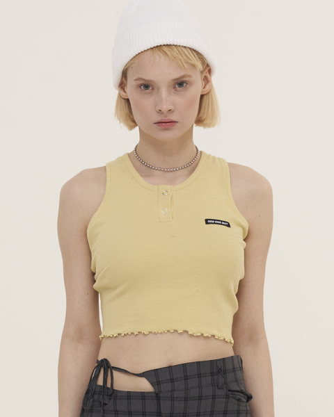 WAVE STRING SLEEVELESS_YELLOW