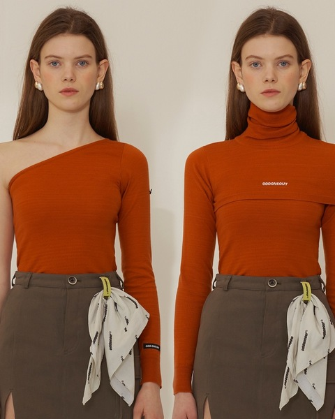 TWO WAY TURTLE NECK_ORANGE