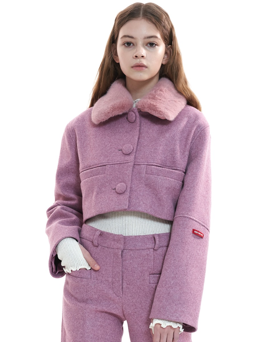 [50% BLACK FRIDAY SALE] Detached collar jacket_PINK