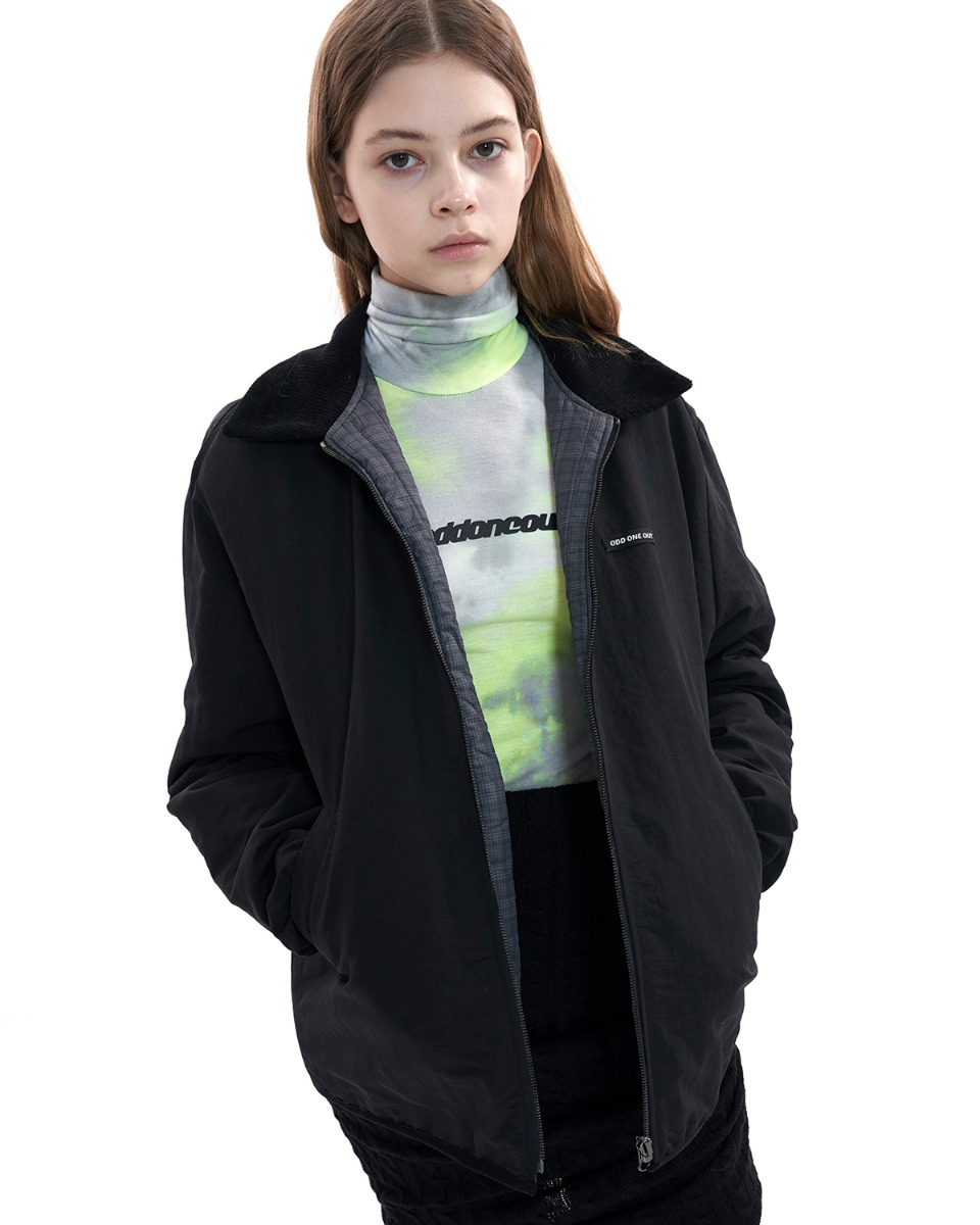 [50% BLACK FRIDAY SALE] Reversible windbreak jacket_BLACK
