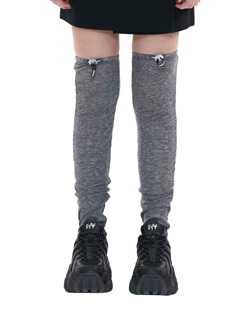 Stopper logo knee socks.N_gray