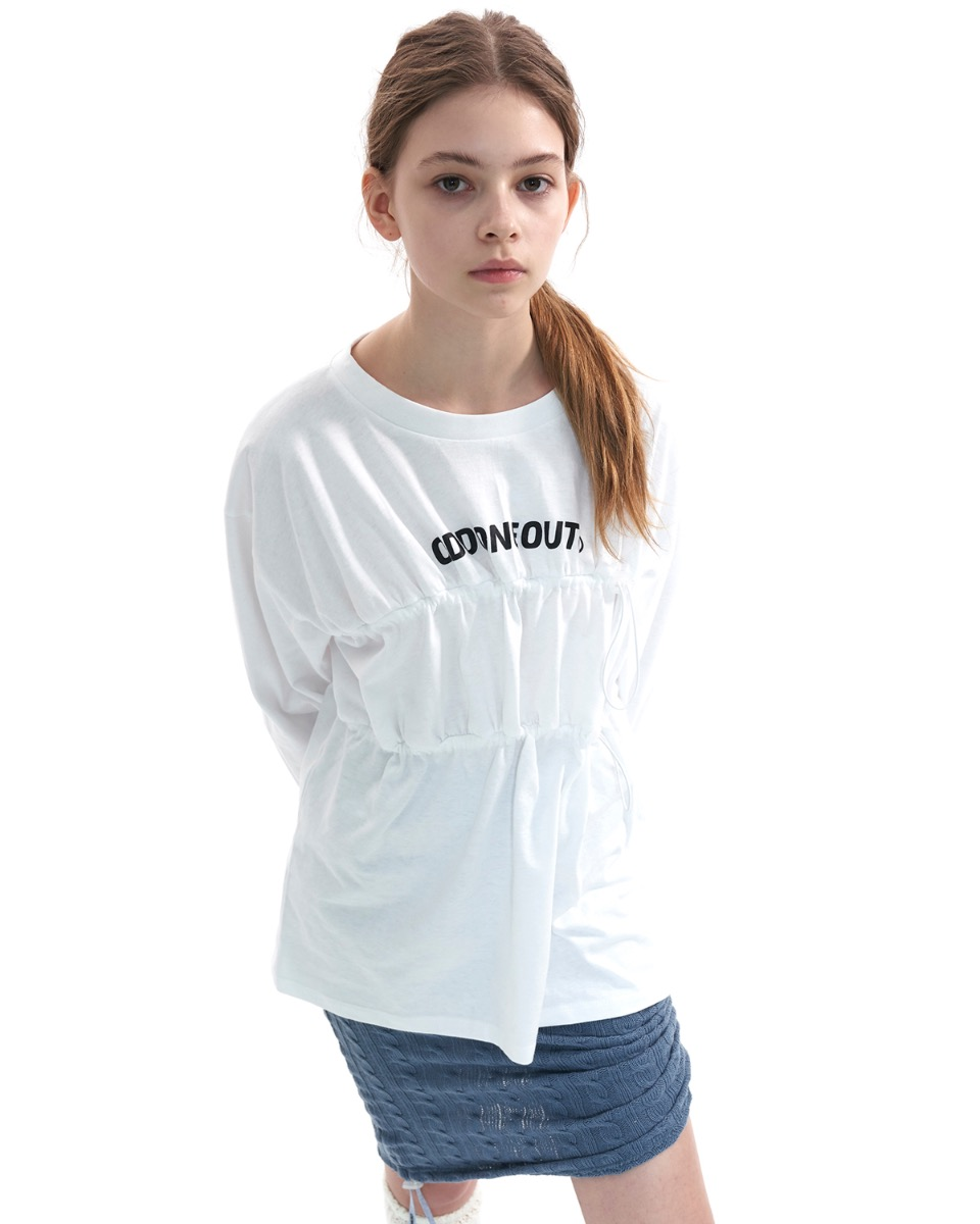 Over size string T-SHIRT_WHITE