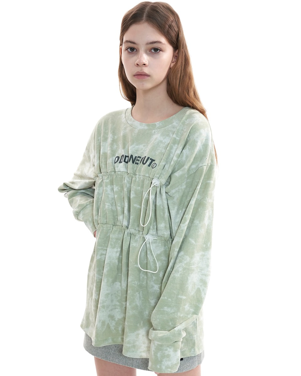 Over size string tie dye_MINT