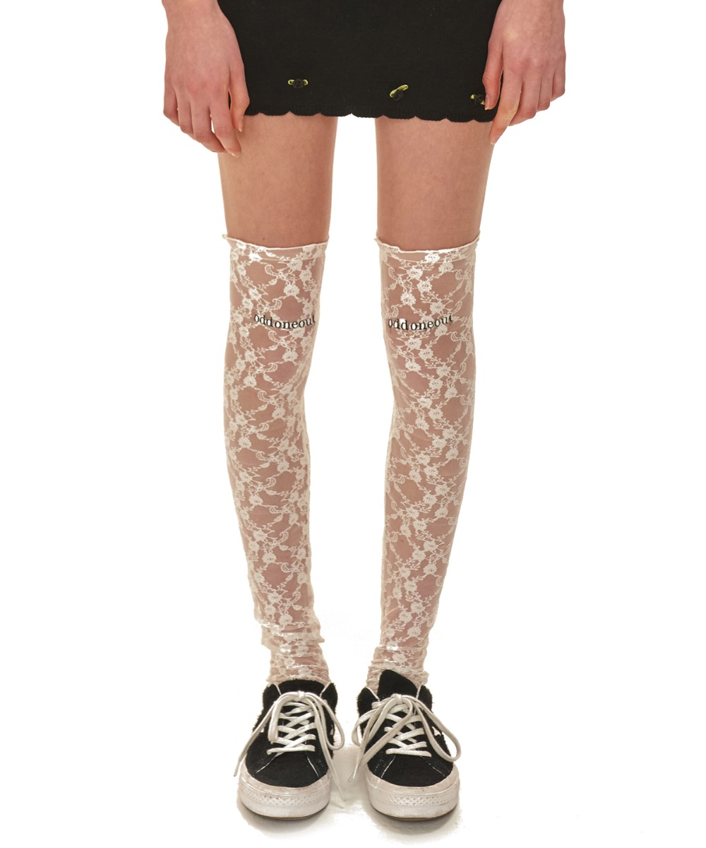 [30% BLACK FRIDAY SALE] oddoneout lace knee socks_WH