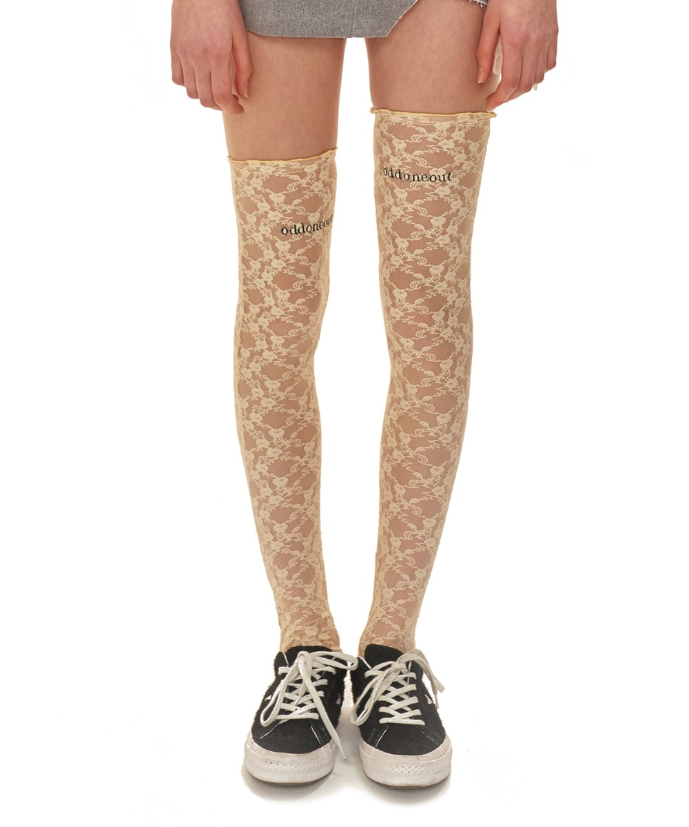 oddoneout lace knee socks_BE