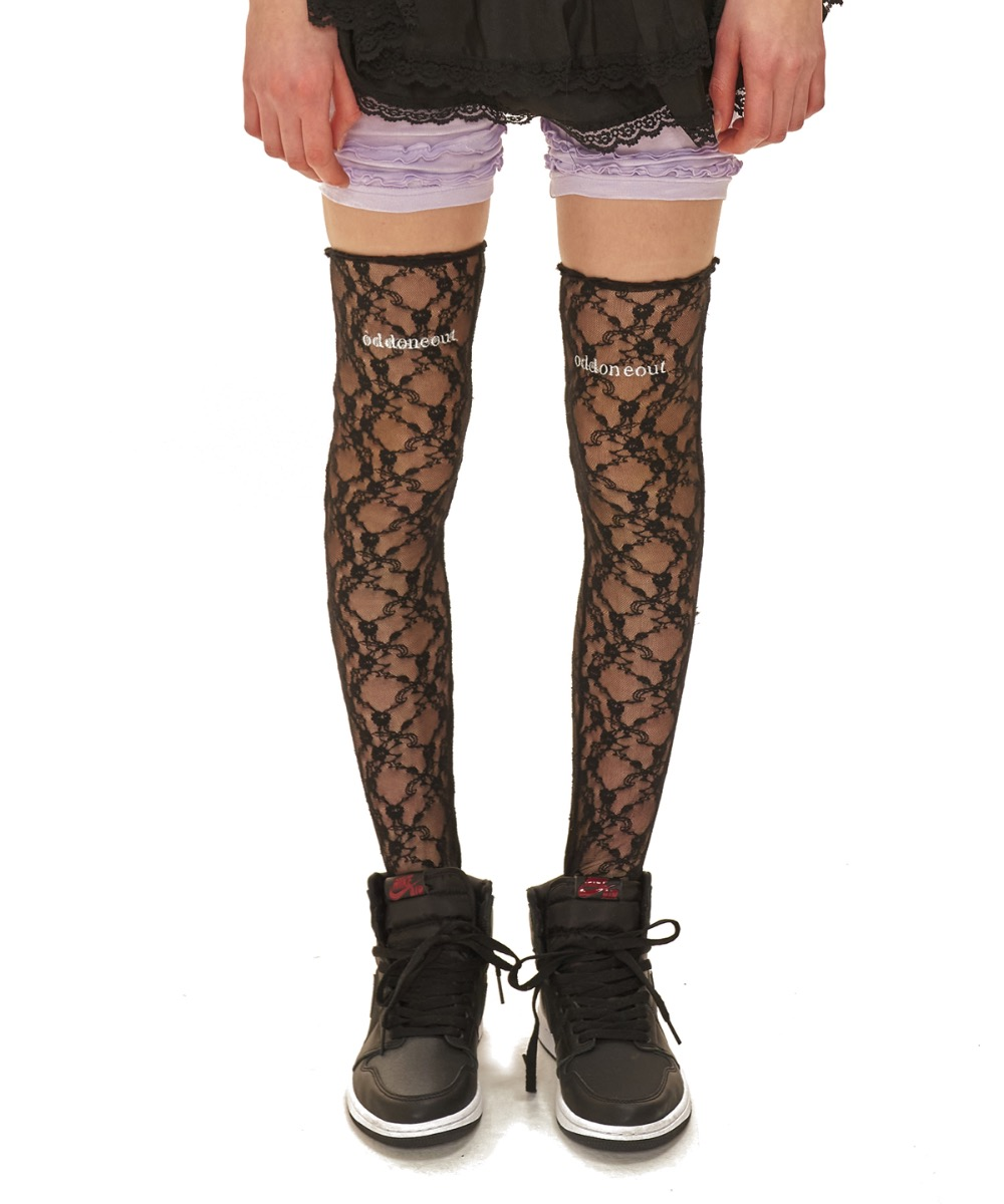 oddoneout lace knee socks_BK