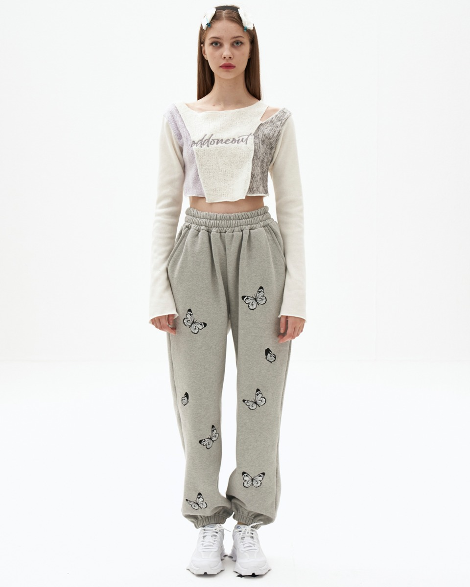 Butterfly needlework sweatpants_GY
