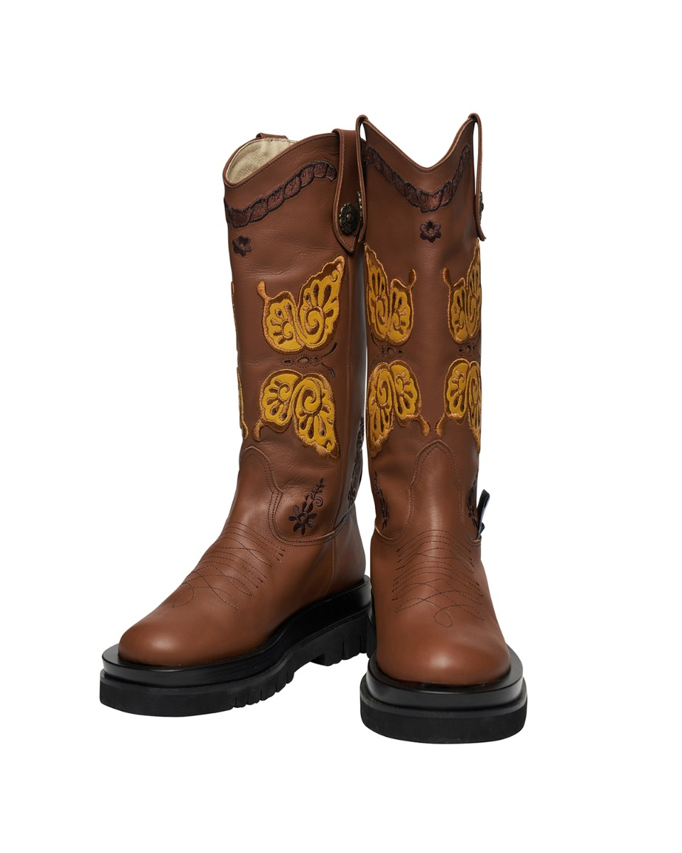 ODDONEOUT BUTTERFLY  WESTERN BOOTS_BR